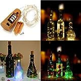Bazaar Batterie angetriebene 8 LEDs Kork geformte im Freien LED-Nacht sternenklare helle Wein-Flaschen-Lampe für Weihnachtsfest