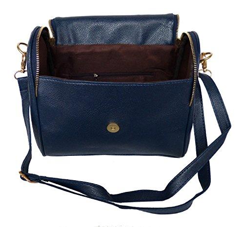 Trachtentasche Umhängetasche im Vintage Design - dunkelblau - Handtasche mit Ornament Herz Ornament
