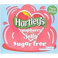 Hartley's Sin Azúcar De Frambuesa Cristales Jalea 23g (Paquete de 2)