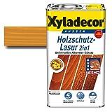 Xyladecor® Holzschutz-Lasur 2 in 1 Palisander 2,5 l - Wetterschutz | farbbeständig | Dünnschicht-Lasur