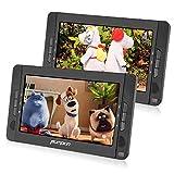 Pumpkin 2 Reproductores DVD Portátil para Coche, 10.1' Doble Pantalla Soporta Tarjeta SD, USB, CD, MP3, JPEG,...