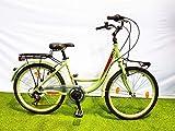 SCHIANO Bicicleta Holanda Mujer Ravenna 24' Aluminio Shimano 6V Turquesa