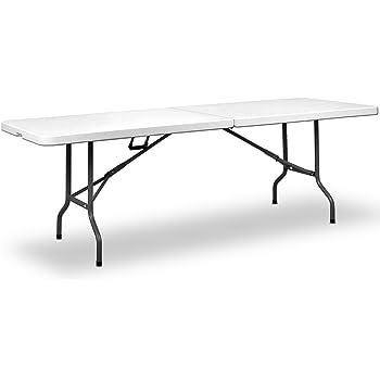 Deuba | Table de Camping • 240 cm • Pliable • Plastique résistant ...