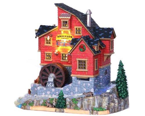 LEMAX Weihnachten-Anderson Valley Mühle INC 4,5V Electric Power Adapter-Porzellan Sehenswürdigkeiten & Sounds (Vail Modell Village-Lichter Up & Mühle Wasser Rad dreht) (15248uk)