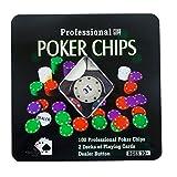 Set Poker Fichas de Póquer 100 Fichas de Póker Profesional...