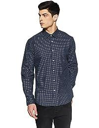 Indian Terrain Men's Printed Slim Fit Casual Shirt - B07DJTSZSC