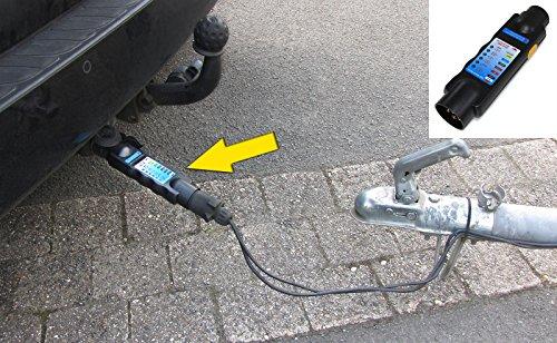 Carparts-Online 26414 Auto Anhänger Stecker Prüfgerät Funktions Beleuchtungs Tester 7 polig für 12v