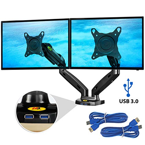 Ergosolid NB F160 Nero Supporto da scrivania braccio per monitor PC LCD e LED Per 2 Monitor 17