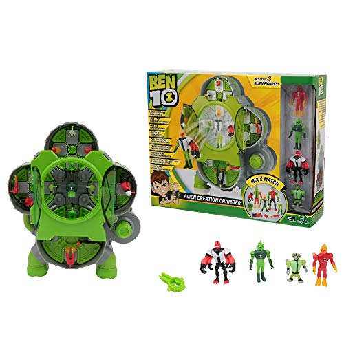 BEN 10 - Alien Creation Chamber Creates Aliens Lab with 4 Figures (Giochi Preziosi BEN25000)