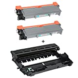 Logic-Seek 2 Toner mit Trommel kompatibel für Brother TN2320 DR2300 DCP-L 2500 Series 2520 2540 DN 2560 2700 DW HL-L 2300 Series 2320 2321 2340 2360 DN -Schwarz je 2.600 Seiten, 12.000 Seiten Trommel