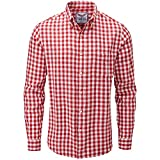 Charles Wilson Camisa Franela de Cuadros Manga Larga para Hombre (Medium, Red &...