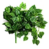TININNA 90cm Künstlicher Efeu Hänger Efeu Efeuranke Künstliche Pflanze Efeugirlande Kunstpflanze Dekoration 3 Stück
