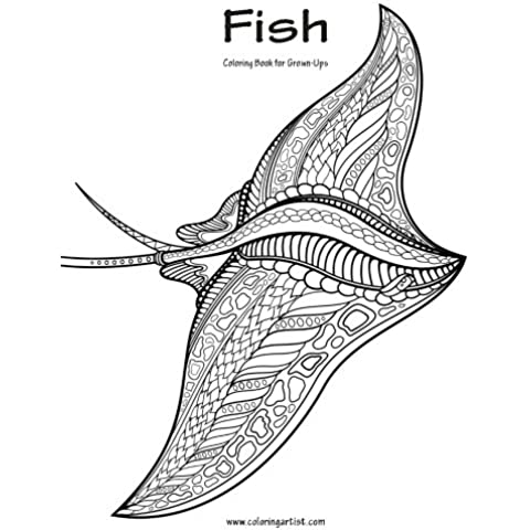 Fish Coloring Book for Grown-Ups: Volume