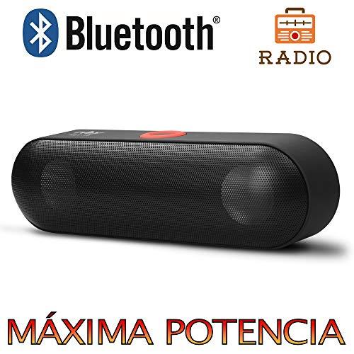 Altavoz Bluetooth 6W,Unicview NBY18 con Radio Negro Estéreo Altavoces Inalámbrico, Altavoz Portátil...