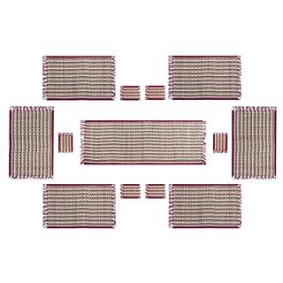 DollsofIndia Esstischuntersetzer, mit Gras und Faden, 13 Stück (MV50)