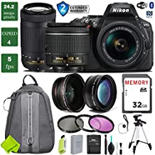 Nikon D5600 DSLR Camera 18-55mm VR Lens & Nikon 70-300mm + 0.43 Wide Angle Lens + 2X Telephoto Lens + 3PC Filter Kit (UV FLD CPL) + Tripod + Backpack + 2 Year Extended Warranty