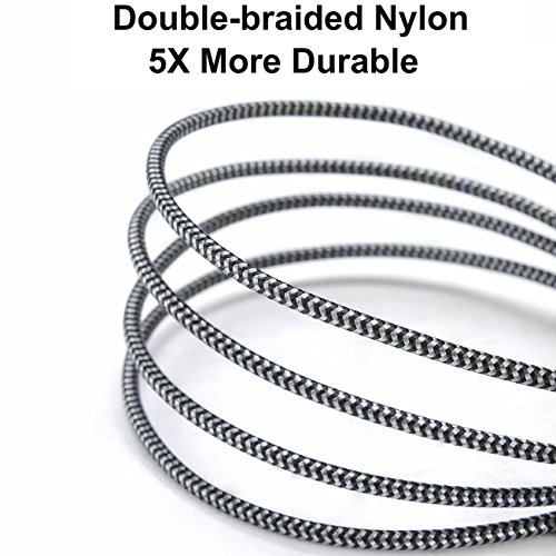 JUFD USB Tipo C Cable,  0.5M+1M+2M+3M (4- Pack) Cargador Tipo C de Nylon Trenzado Carga Rápida y Sincronización de Datos para Samsung Galaxy S9/S8/ Note8,  A5(2017),  Mi A1,  Huawei P10/P20/Mate10, Switch
