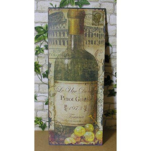Blechschild Pinot Grigio Weinflasche Toscana Nostalgie Shabby Bistro Bar Deko