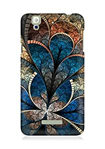 Amez designer printed 3d premium high quality back case cover for YU Yureka (Abstract 2)
