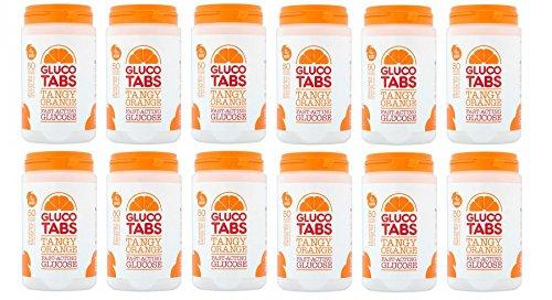 Glucotabs Orange- 50 Glucose 200g – 12 Packs (Total 600 Tablets)