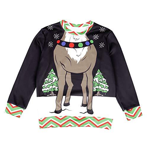 Yao Weihnachten Hoodies Sweatshirts Tops Hosen Hosen Anime Kostüm Festival Woods Snowflake Sweater Zweiteiler Für Kinder (Color : No hat, Size : XL) (Kinder Snowflake Kostüm)