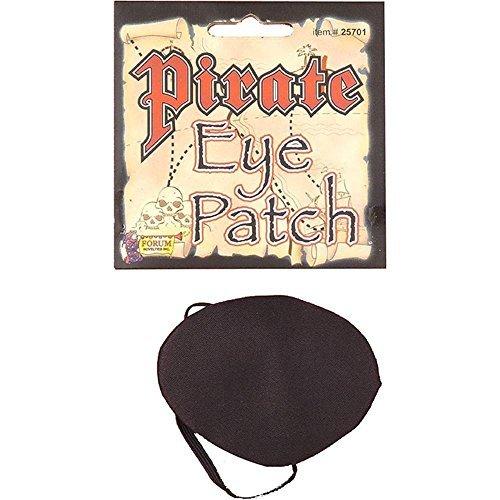 Kostüm Franco - Piraten-Augenklappe, Satin, Halloween-Kostüm-Accessoire, Franco American Novelty Company