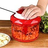 Tenta Kitchen 1000ml Gemüse und Obst Zwiebel Zerkleinerer Manuell Hacken Schneiden Mischen mit 3 Klingen