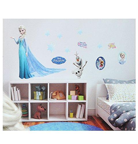 Unbekannt großes Set: Wandtattoo / Wandsticker - Disney die Eiskönigin - Aufkleber Wandaufkleber für Mädchen - völlig unverfroren ELSA Arendelle / Poster - ()