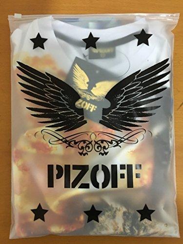 Pizoff Unisex Print Schmale Passform T Shirts mit Karikatur Katze 3D Druckmuster Y1717-33