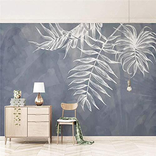 Papel pintado mural de color azul marino Mural Sala de estar TV...