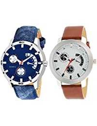 Scarter Combo Of 2 Analog Watch For Boys And Mens- S-206-213