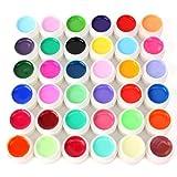 Lsv-8 36 Farbe Nail Art UV Gel Farbgel Effekt-Gele Fingern?gel Nagelgel Nagel Set