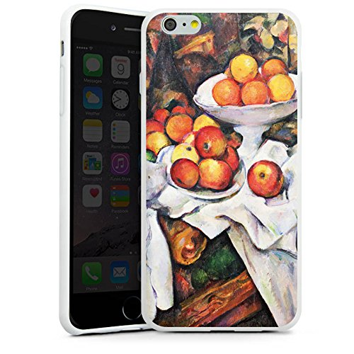 Apple iPhone X Silikon Hülle Case Schutzhülle Stillleben mit Äpfel und Orangen Obst Paul Cézanne Silikon Case weiß