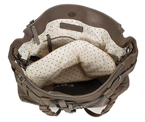 FREDsBRUDER Lucky Star Shopper sac à bandoulière en cuir souple (37 x 27 x 12 cm) grau
