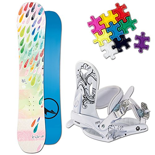 TRANS LTD GIRL KINDER SNOWBOARD SET 2017 ~ 130 CM + ELFGEN JUNIOR BINDUNG + PAD