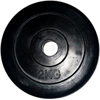 LiveUP Sports - Disco Peso 1pz 2Kg Foro 28mm Gomma Naturale Ghisa Bodybuilding Fit Bilanciere