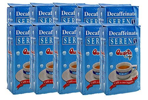 QUARTA Caffè SERENO DECAFFEINATO macinato 250 gr Aroma dolce e gradevole - 10 buste Fine blend of coffee processed in...