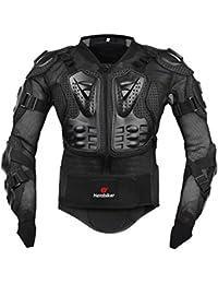 Fastar Chaqueta de moto,Chaqueta protectora - Profesional de Motocicleta Protección del cuerpo Motocross Racing Armadura de cuerpo entero Spine Chest (Negro, L)