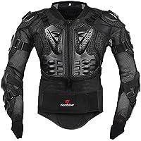 Fastar Chaqueta de Moto,Chaqueta Protectora - Profesional de Motocicleta Protección del Cuerpo Motocross Racing Armadura de Cuerpo Entero Spine Chest (Negro, XXXL)