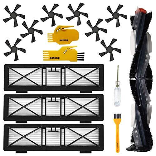 Brosses latérales et Kit d'accessoires de remplacement de filtre à haute performance pour Neato Botvac Connecté D Série D75 D80 D85 D5 D3 Brosse principale