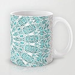 Taza grande de Mandala de cerámica