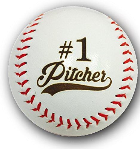 # 1Krug Laser Gravur Synthetik Leder Baseball Geschenk