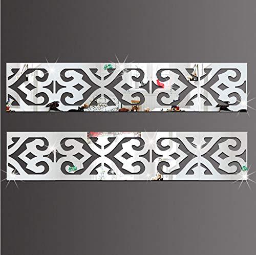 Hunpta@ Wand Sticker 3D Moderne Spiegel Blumen Vinyl abnehmbare Wandaufkleber Aufkleber Home Decor Art SL -
