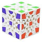 Maomaoyu Cubo de 3X3 3x3x3 de Engranajes Gear Cube 3D Puzzle Magico Cubo de la Velocidad Blanco