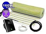 Elektrische Fußbodenheizung Komplett-Set NZ-160 Premium - 30 Jahre Herstellergarantie (2 m² - 0.5 m x 4 m, Thermostat MCS 400 Wlan)