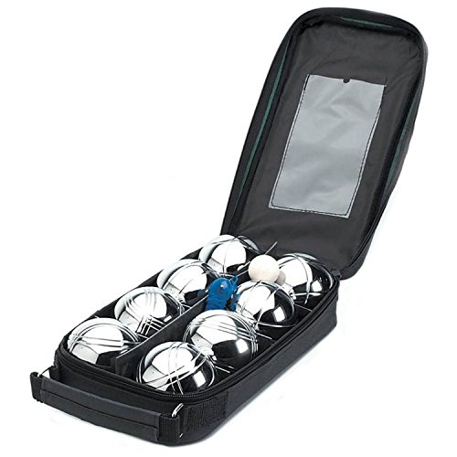 Kit de petanca con 8 bolas de acero para jardín, de Parkland®