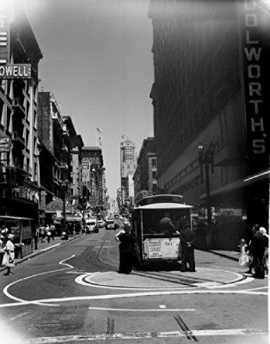 USA California San Francisco Powell Street Cable car Poster Drucken (60,96 x 91,44 cm)