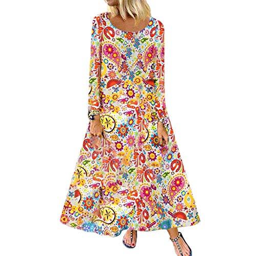 Mosstars Vestidos Mujer Casual Tallas Grandes Mujer Vestido Largo de M