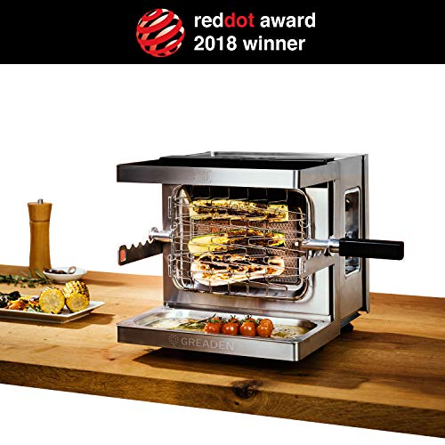 GREADEN Mini Barbecue à Gaz Mobile Beef Chef - Red Dot Award Allemand BBQ Jardin extérieur...