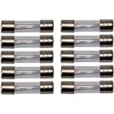 AERZETIX: 10 x Fusibles de vidrio retardo de tiempo lento 2cm 5x20mm 220V 250V 0.5A 500mA